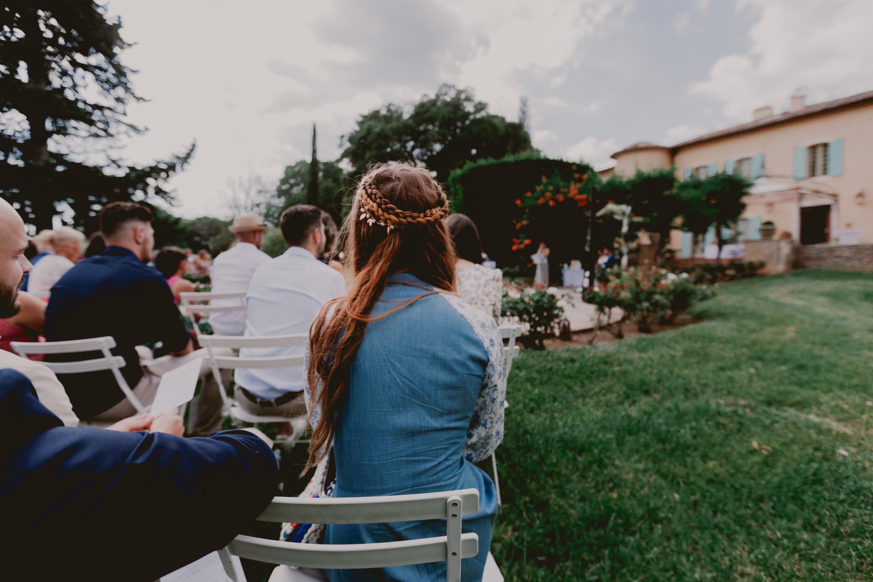 mariage; provence; lorgues; chateau crostes; robe; lorgues, vaucluse
